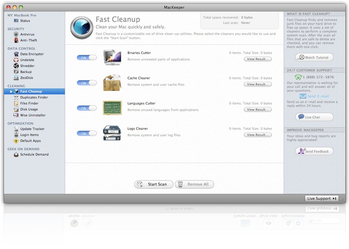 mackeeper software preview of features and benefits